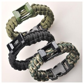 Multifunctional Safety Rope Survival Bracelet w whistle(Quick Release Buckle) cf