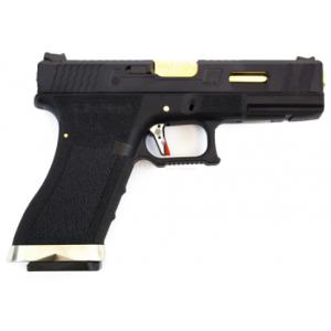 Pistola E Force EU17 bk (black slide and gold barrel) WE
