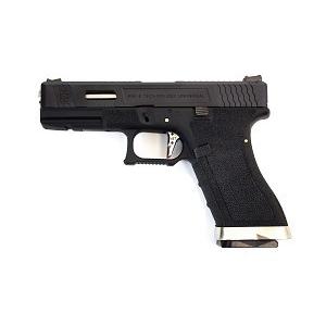Pistola E Force EU17 bk (black slide and silver barrel) WE
