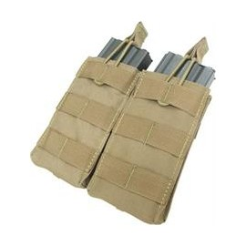 Double M4/M16 open top mag. pouch tan