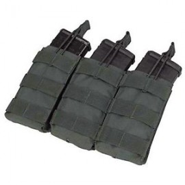 Triple M4/M16 open-top mag. pouch bk