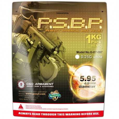 0.25g BBs Perfect 1Kg (4000) G&G