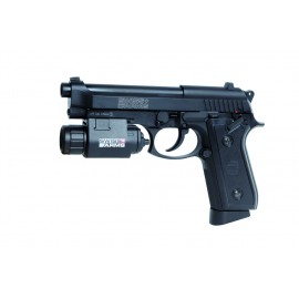 Pistola P92 CO2 metal 4.5mm Swiss Arms (lanterna não incluída)