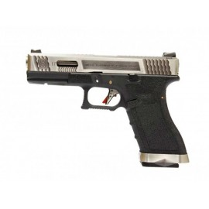 Pistola EU17 E Force bk (silver slide and silver barrel) WE