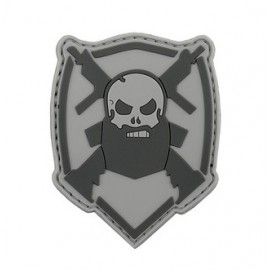 Patch PVC Bearded Skull