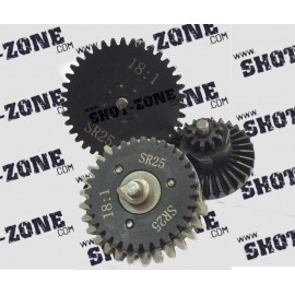 Gear Set Reinforced CNC Ratio 18:1 SR-25 [AirsoftPro]
