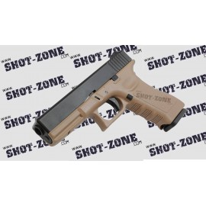 Pistola G17 GBB tan [KJW]