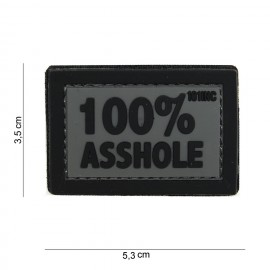 Patch 3D PVC 100% Asshole grey/bk