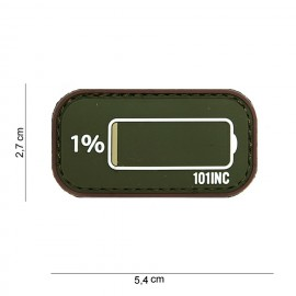 Patch 3D PVC Low Power od/brown