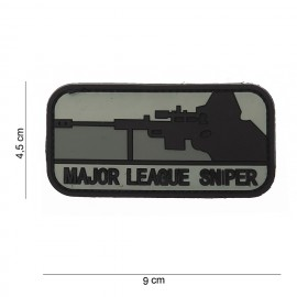 Patch 3D PVC Major League Sniper grey/bk