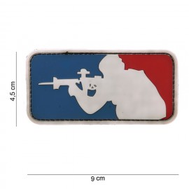 Patch 3D PVC Sniper red/blue