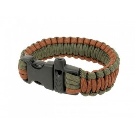 Paracord Survival Bracelet c apito brown/foliage