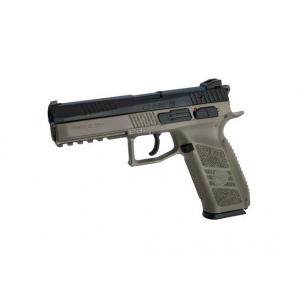 Pistola CZ P-09 6.0mm GBB tan/bk c/mala [ASG]