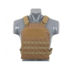 Simple Plate Carrier Dummy Soft Armor tan [8Fields]