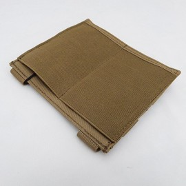 Double M4/M16 mag pouch elastic tan [8FIELDS]