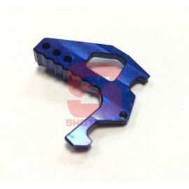 Charging handle extension CNC M4 blue [MCC]