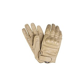 Gloves Leather Combat tan - M