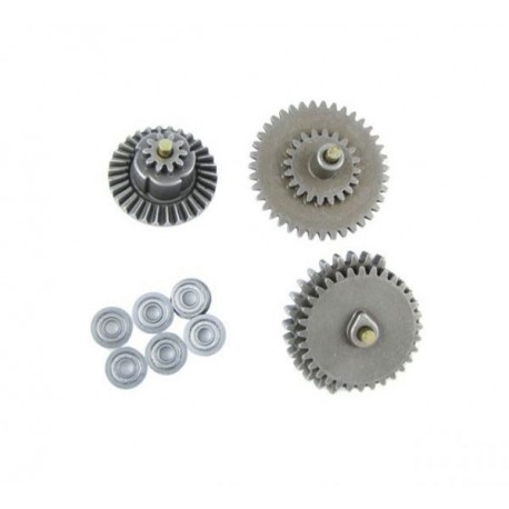 Steel Gear Set (3 pcs) 8mm Bearing (6 pcs) [SRC]