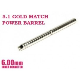 Power Barrel 6.00x112.5mm for Tokyo Marui Hi-Capa 5.1 Gold Match [Nine Ball]