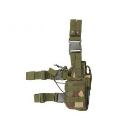 Tactical Drop Leg Holster w mag pouch woodland [8Fields]
