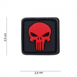 Patch PVC 3D Punisher bk/red