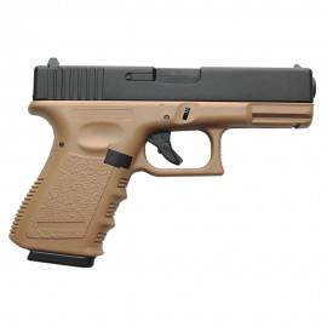 Pistola G23 Gas BlowBack (ABS Slide) tan [KJW]