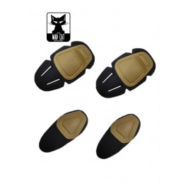 Knee & Elbow Pads Set tan [MadCat]