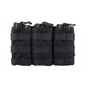 Triple Open Pouch for AK/M4/G36 Magazines bk [Primal Gear]
