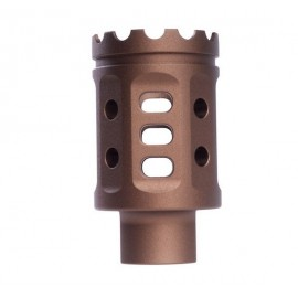 Meat Cutter (S) for Tokyo Marui M16 Series (14mm CW & CCW Adaptor) tan [G&P]