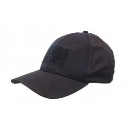 Combat Cap w/velcro bk [NUPROL]