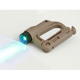 Flashlight blue small locking D-ring tan