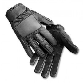 Gloves Leather Combat bk