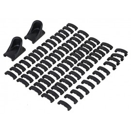 Protection clips set p RIS rails bk